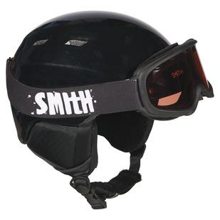 Gambler/Zoom Combo Jr - Ensemble de casque de sports d'hiver et lunettes pour junior