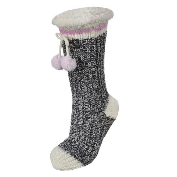84-73 - Chaussettes-pantoufles pour femme