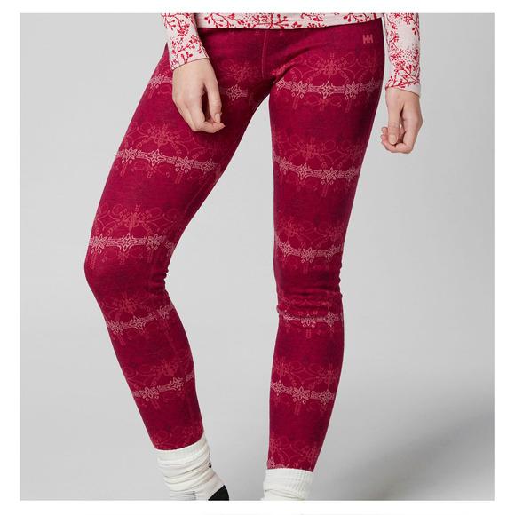 a7331fd0e964e HELLY HANSEN Merino Mid Graphic - Pantalon de sous-vêtement pour femme    Sports Experts
