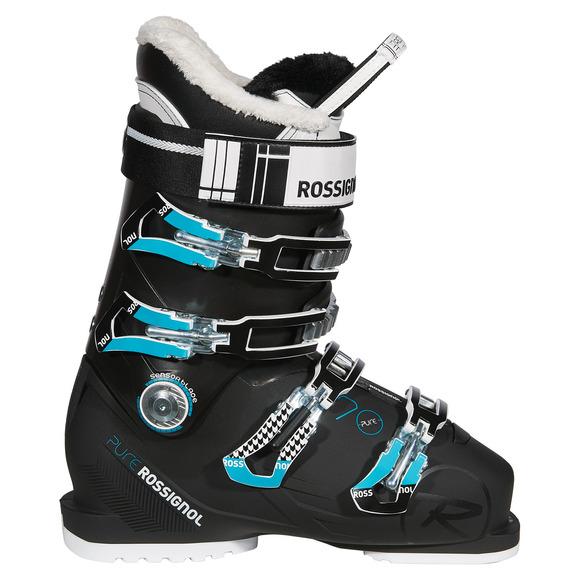 rossignol pure 70 bottes de ski alpin pour femme. Black Bedroom Furniture Sets. Home Design Ideas