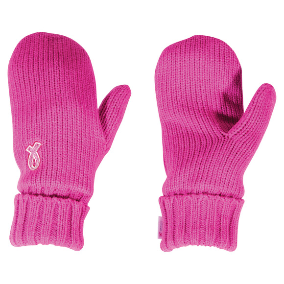 Pink Ribbon - Women's Knit Mitts (S/M)
