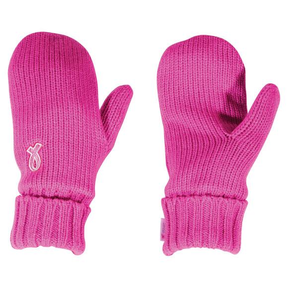 Ruban Rose - Mitaines en tricot pour femme (TP/P)