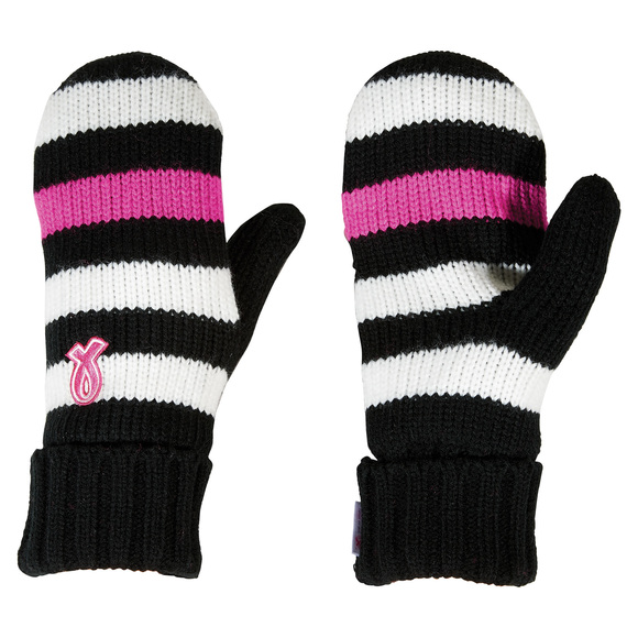 Pink Ribbon - Women's Knit Mitts (XS/S)