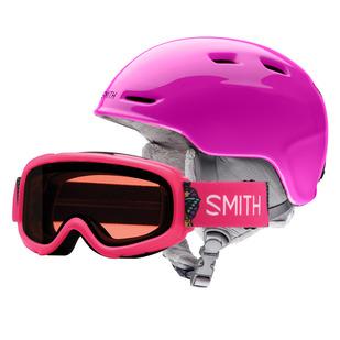 Zoom Jr/ Gambler Jr Combo - Ensemble de casque et lunettes de sports d'hiver pour junior
