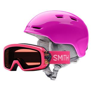 Zoom Jr/ Rascal Jr Combo - Ensemble de casque et lunettes de sports d'hiver pour junior