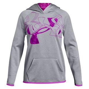Armour Fleece Print Logo Jr - Chandail à capuchon pour fille