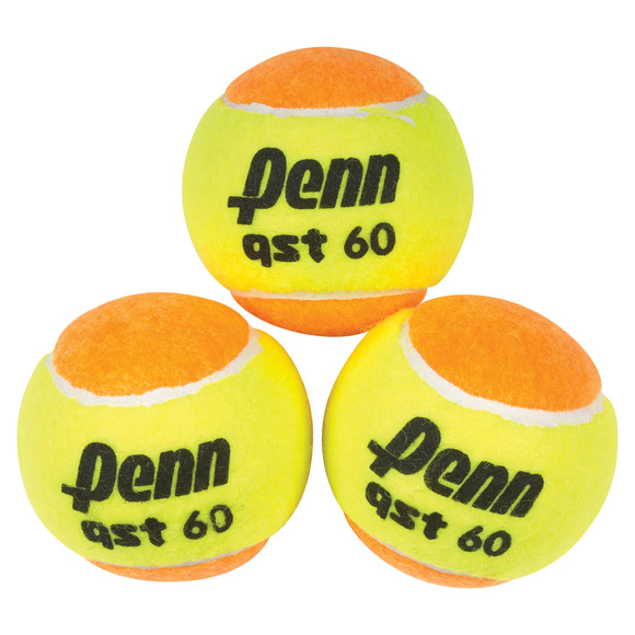 QST 60 Felt Jr - Reduced Speed Tennis Balls (Pack of 3)