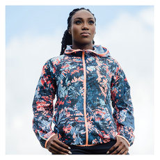 Printed Accelerate Windcheater - Women's Hooded Training Jacket