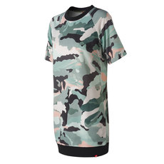 Essentials Aqua Camo - Women's Fleece Dress