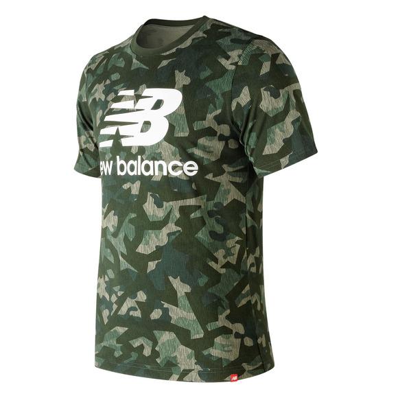Essentials Stacked Logo - Men's T-Shirt