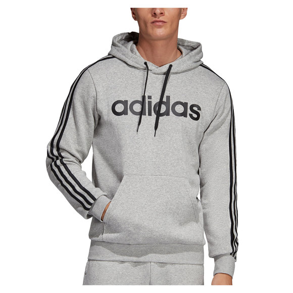 Essentials 3 Stripes - Men's Fleece Hoodie