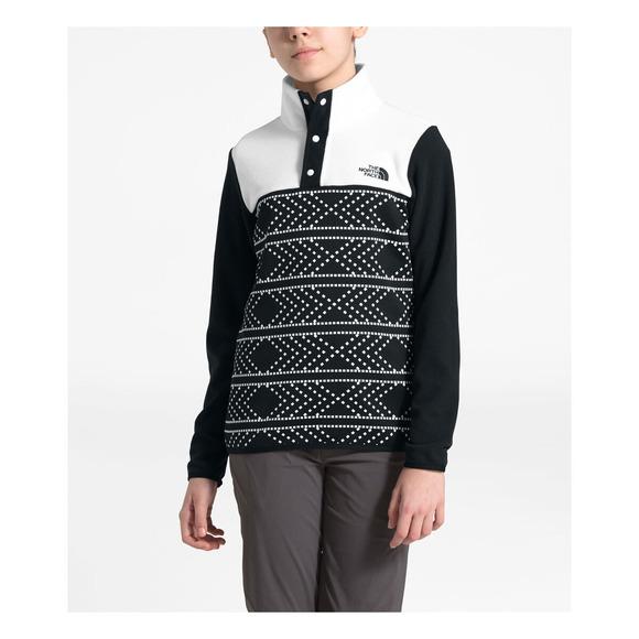 Glacier Jr - Girls' Quarter-Snap Sweater