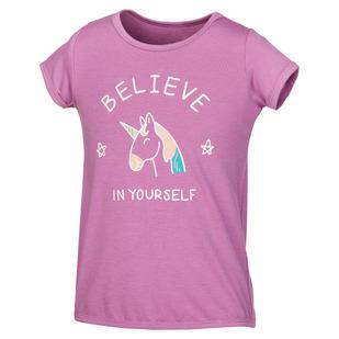 Tie Back Graphic K - T-shirt pour fillette