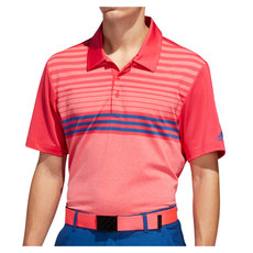 Ultimate365 3-Stripes Heather Gradient - Men's Golf Polo