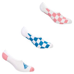 L8R Check Canoodles (7 to 10) - Socquettes pour femme (paquet de 3 paires)