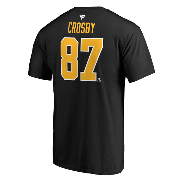 Authentic Stacked (Name and Number) - Men's NHL T-Shirt