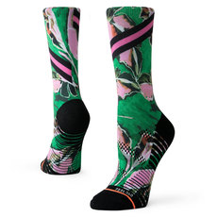 Varsity Floral Crew - Women's Running Socks