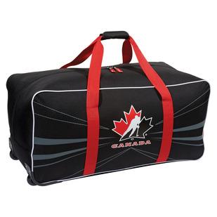 G0531 Team Canada - Sac à roulettes pour équipement de hockey pour junior