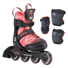 Marlee Pro Pack - Girls' Adjustable Inline Skates Package