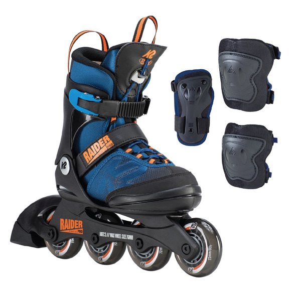Raider Pro Pack - Boys' Ajustable Inline Skates Package
