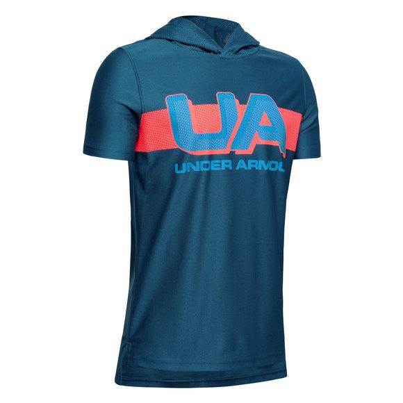 UA Tech Jr - T-shirt à capuchon pour garçon