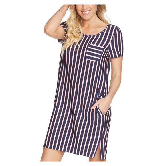 Stripe Renewal - Robe t-shirt pour femme