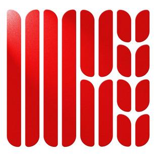 Reflective Frame - Ensemble de bandes réfléchissantes pour vélo (rouge)
