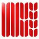 Reflective Frame - Ensemble de bandes réfléchissantes pour vélo (rouge) - 0