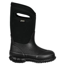 Classic Black with handles - Junior Waterproof Winter Boots