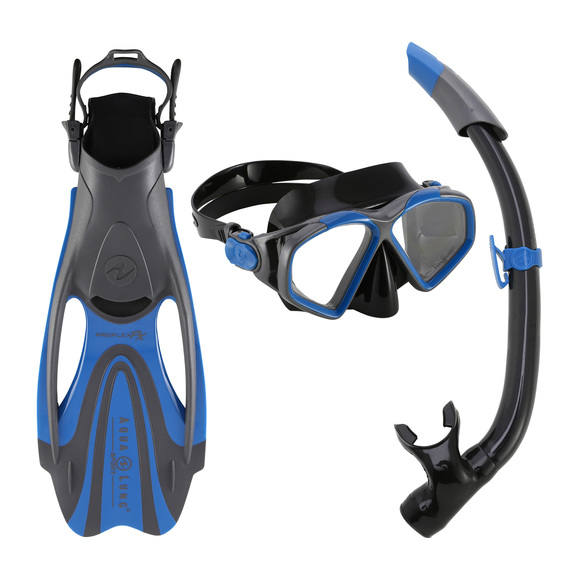 Hawkeye Trio (large) - Mask, Snorkel and Fins Kit