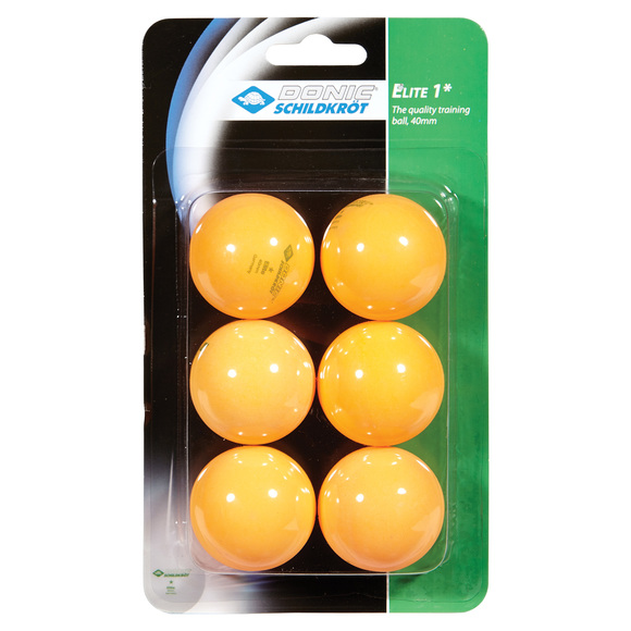 Elite 1* - Box of 6 table tennis balls