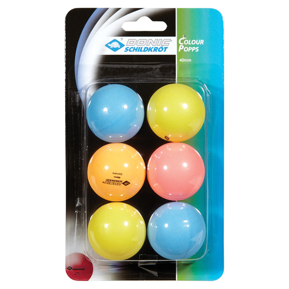 Popps - Box of 6 table tennis balls