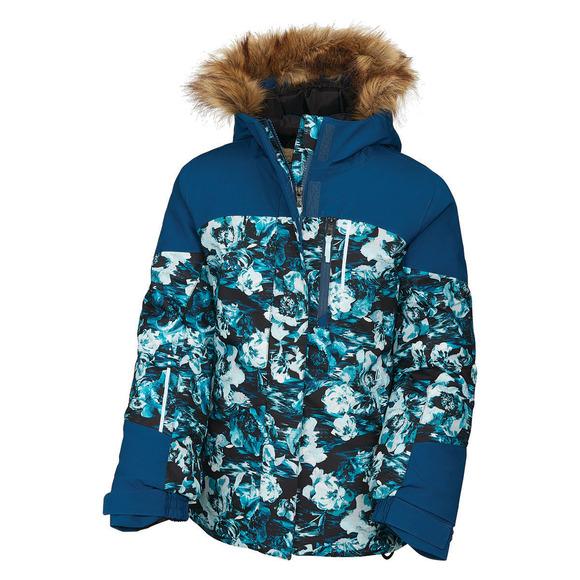 Macaron Jr - Manteau d'hiver à capuchon pour fille