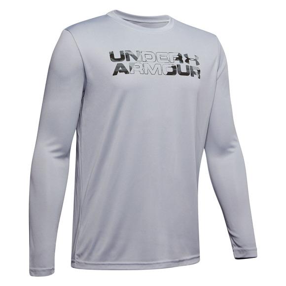 Big Print Fill Jr - Boys' Athletic Long-Sleeved Shirt