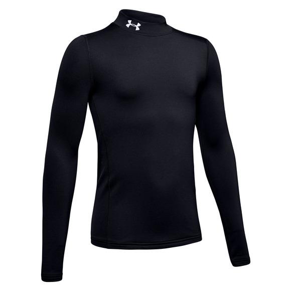 ColdGear Armour Mock Jr - Boys' Athletic Long-Sleeved Shirt