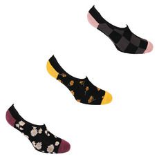 Floral Frenzy Canoodles - Women's Ankle Socks (Pack of 3 Pairs)