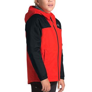 Warm Storm Jr - Boys' Hooded Rain Jacket