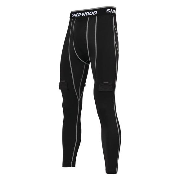 1013011904 Sr - Pantalon de compression avec support athlétique pour senior