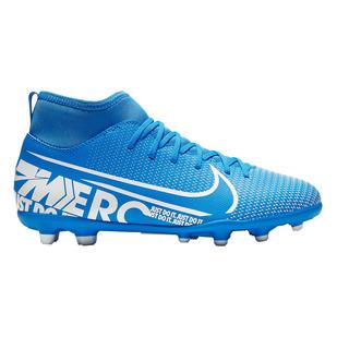 JR Mercurial Superfly 7 Club MG - Chaussures de soccer extérieur pour junior