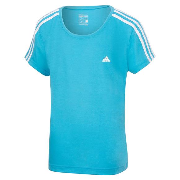 Essentials 3-Stripes Jr - T-shirt d'entraînement pour fille