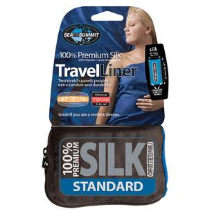Premium Silk Liner - Drap de voyage avec empiècement pour oreiller