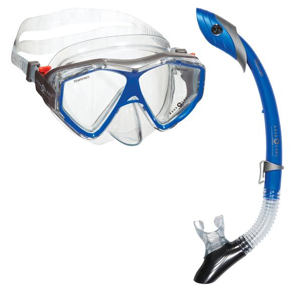 Anacapa 2/Island Dry - Combo masque et tuba pour adulte