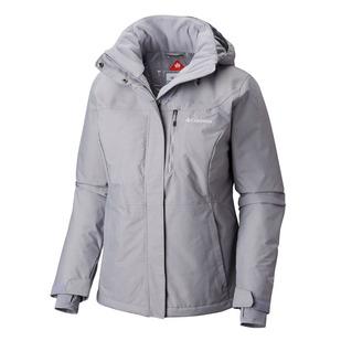 Alpine Action - Women's Hooded Winter Jacket