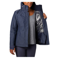 Alpine Action - Women's Hooded Winter Jacket