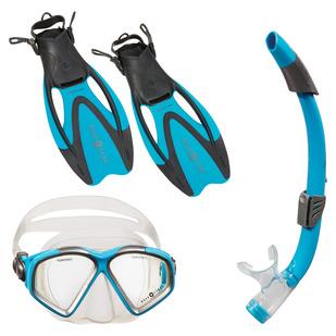 Cozumel LX/Sea Breeze/Proflex - Adult's Mask, Snorkel And Fins