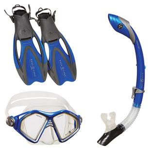 Cozumel LX/Sea Breeze/Proflex - Adult Mask (Small)- Snorkel and Fins