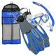 Cozumel LX/Sea Breeze/Proflex - Masque (Petit) - tuba et palmes pour adulte  - 0