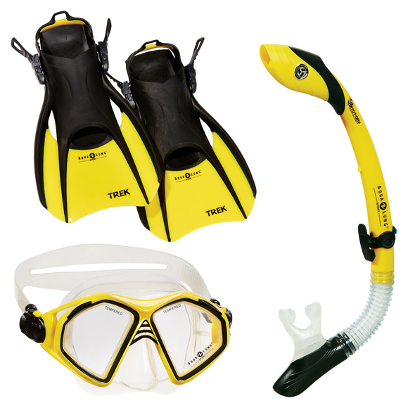 Admiral LX / Island Dry LX / Trek (Small) - Adult Mask - Snorkel and Fins