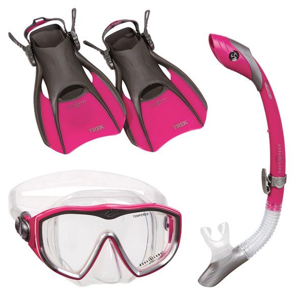 Diva LX/Island Dry/Trek - Adult Mask - Snorkel and Fins