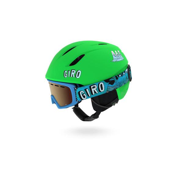Launch Combo Pack - Ensemble de casque et lunettes de sports d'hiver pour junior
